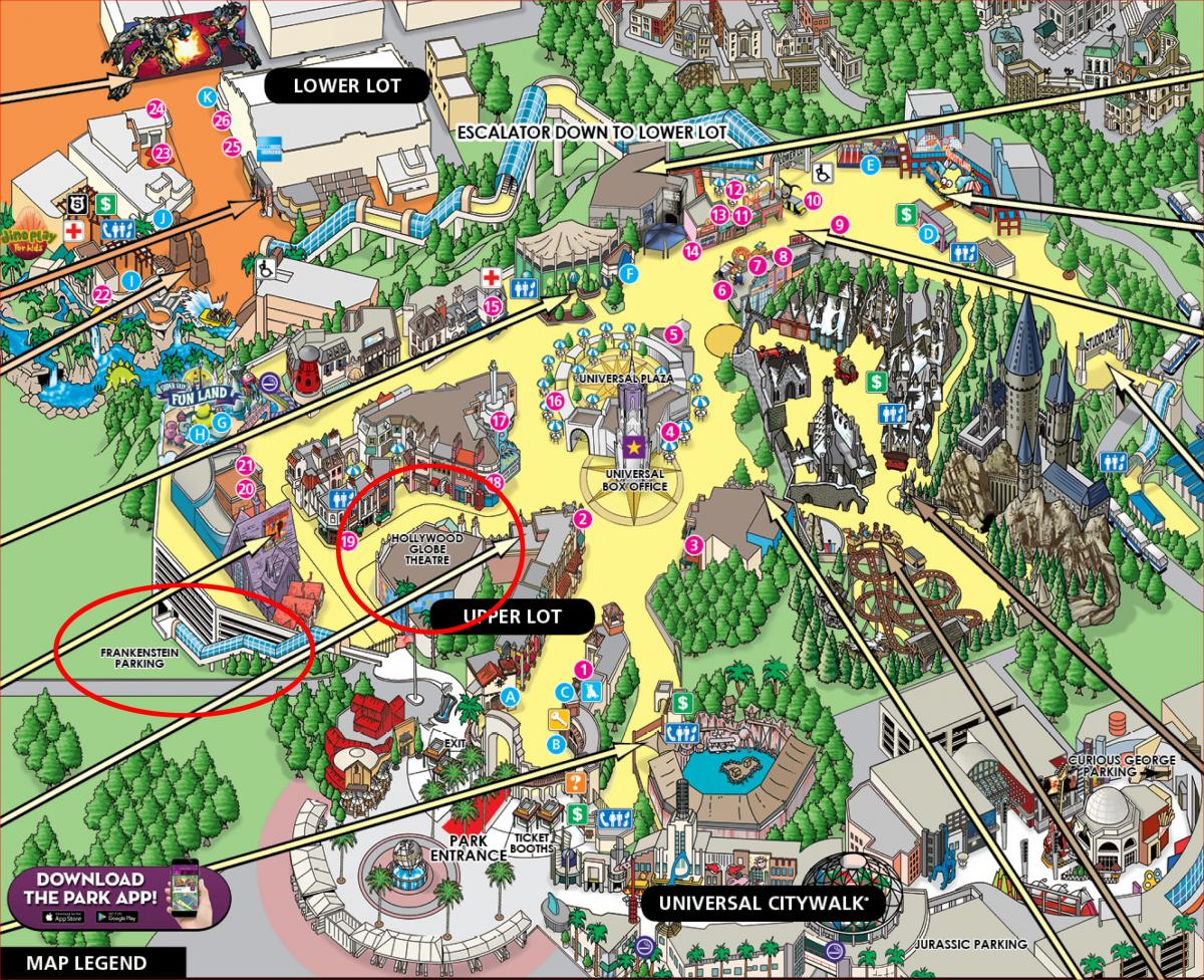 Click Here To View A Map Of Universal Studios Hollywood