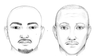 New police sketches of the two men suspected in the beating.