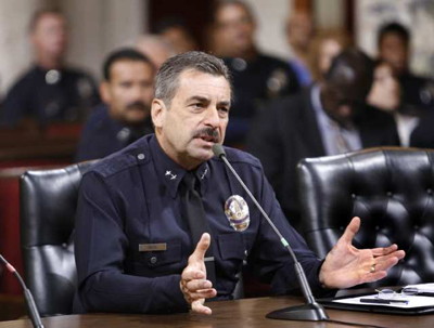 LAPD Chief Charlie Beck. Credit: L.A. Times