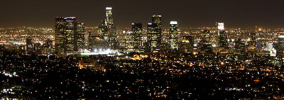 Nathaniel Smith/Flickr (Creative Commons-licensed)File photo: Los Angeles downtown city skyline at night as seen from the Griffith Observatory