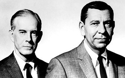 "Photo:  Harry Morgan, left, and ""Dragnet"" co-star Jack Webb. Credit: CBS"