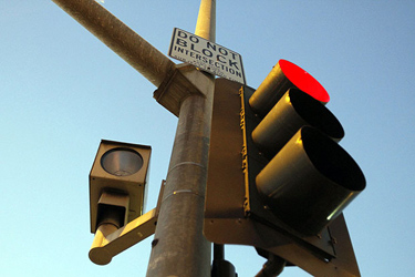 A red-light camera on the Westside. Credit: Glenn Koenig / Los Angeles Times