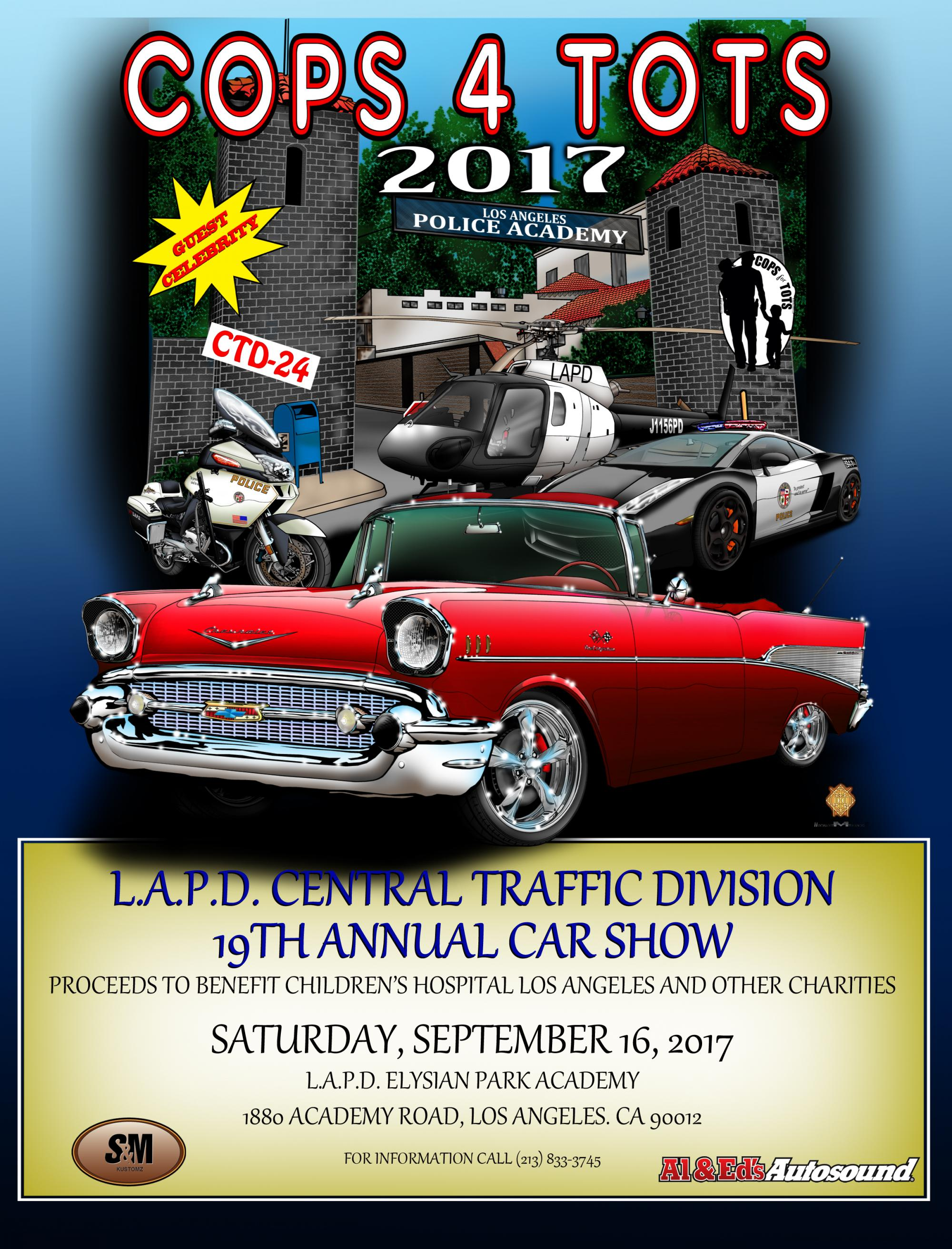 Th Annual LAPD Central Traffic Division Cops Tots Car Show - Car show los angeles ca