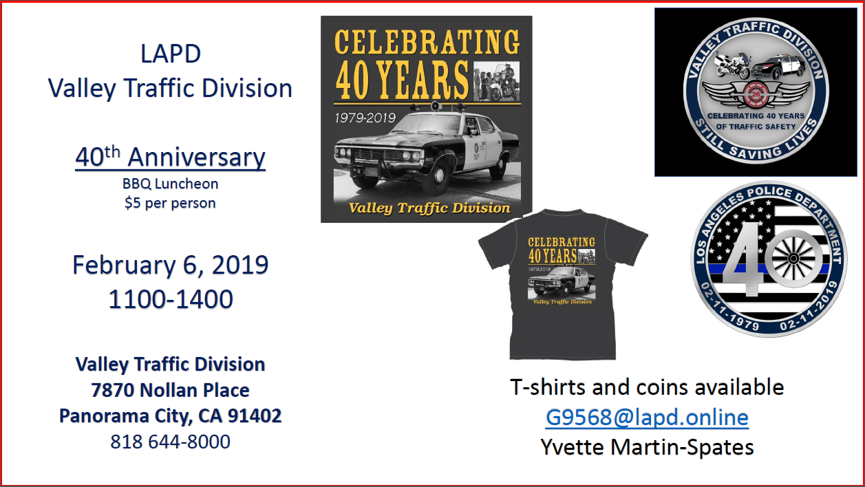 Valley Traffic Division 40th Anniversary | LAPPL - Los Angeles