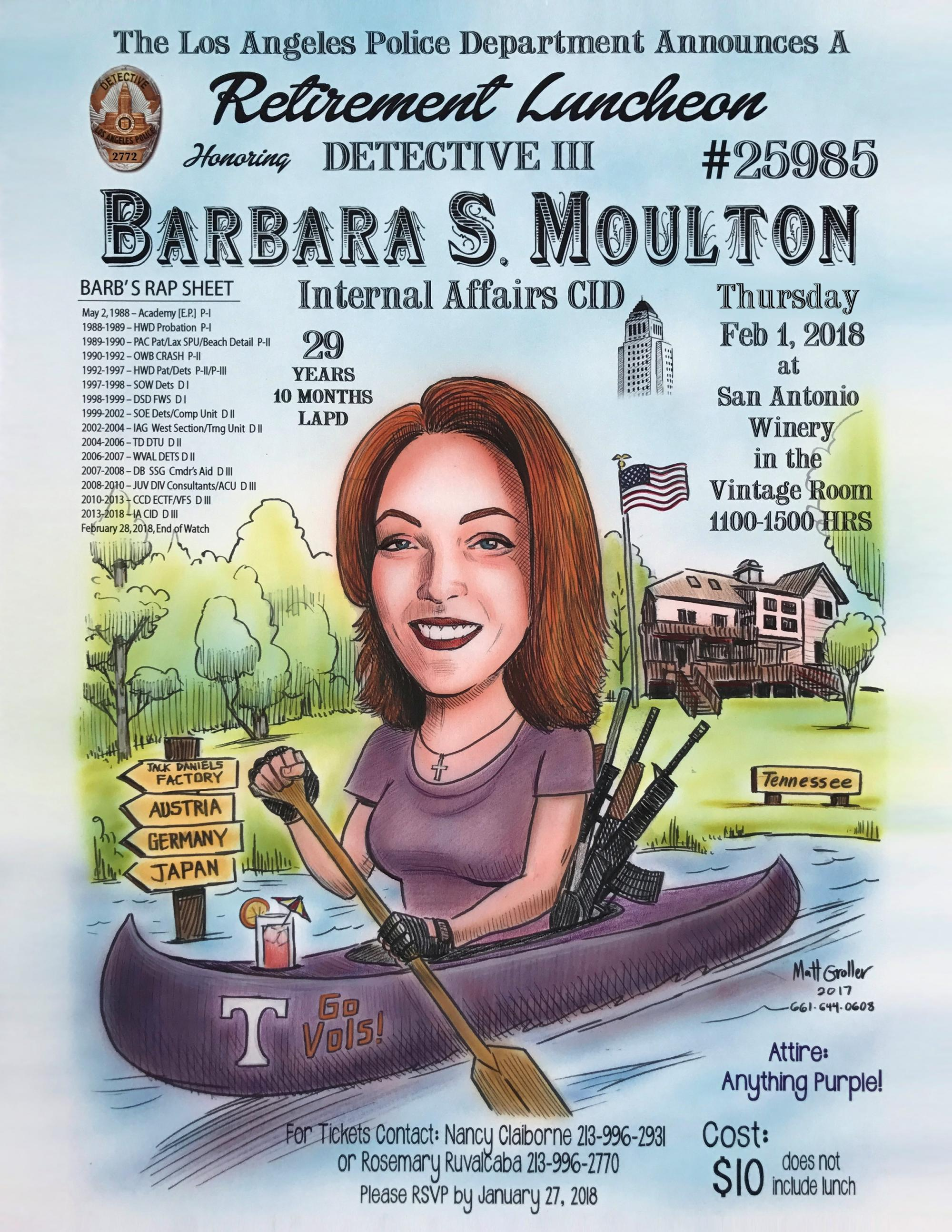 barbara moulton retirement flyers lappl los angeles police