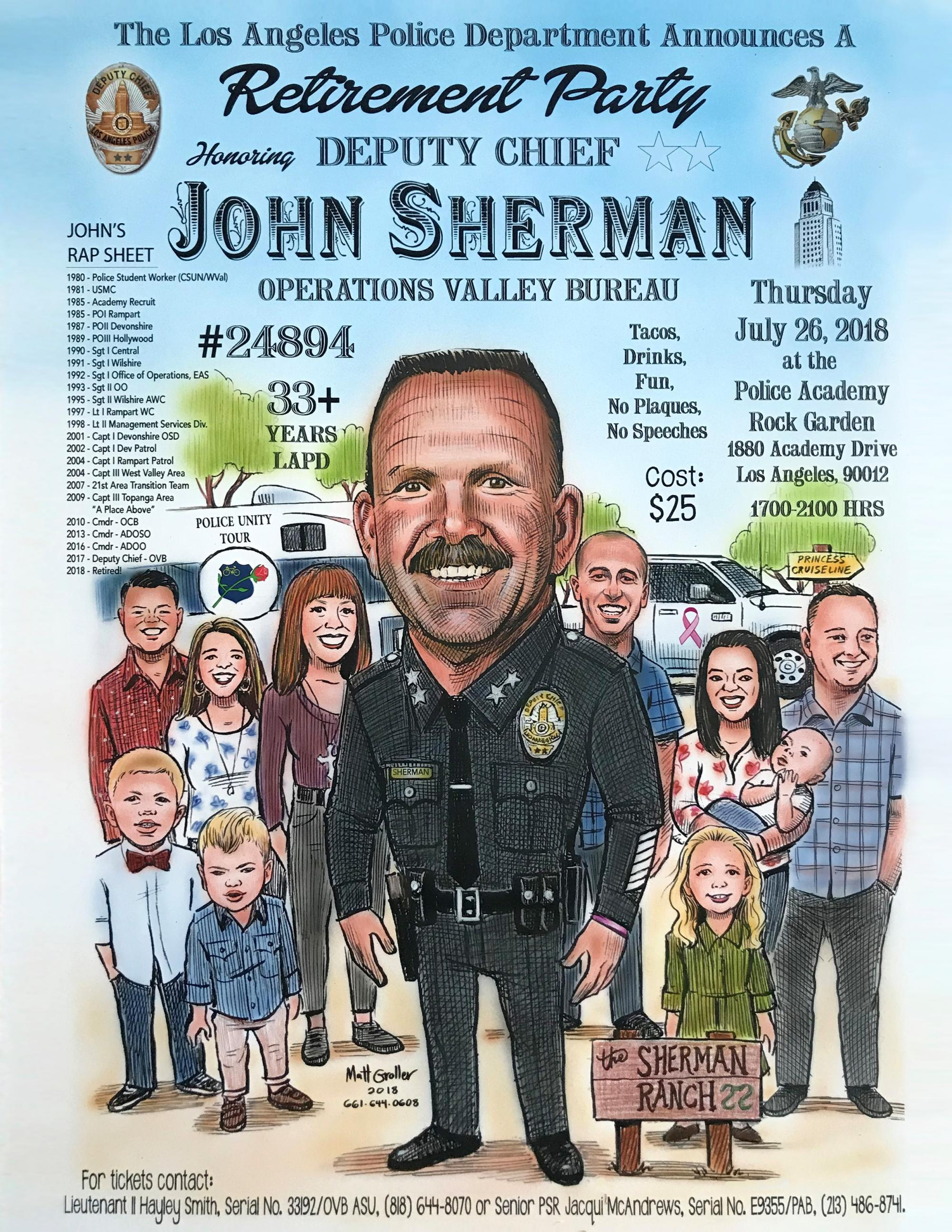 john sherman retirement flyer lappl los angeles police