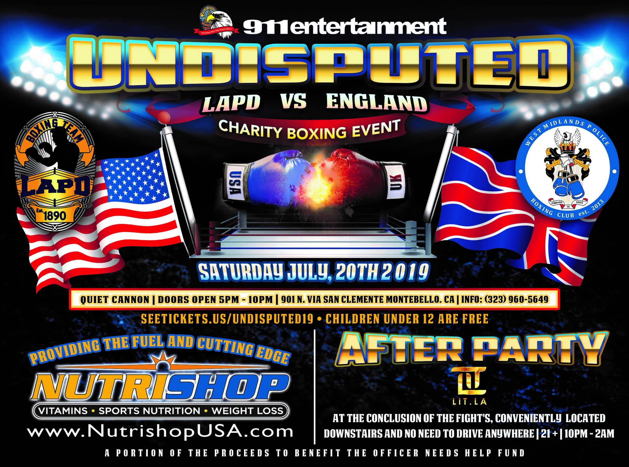 LAPD vs  England Charity Boxing Event   LAPPL - Los Angeles