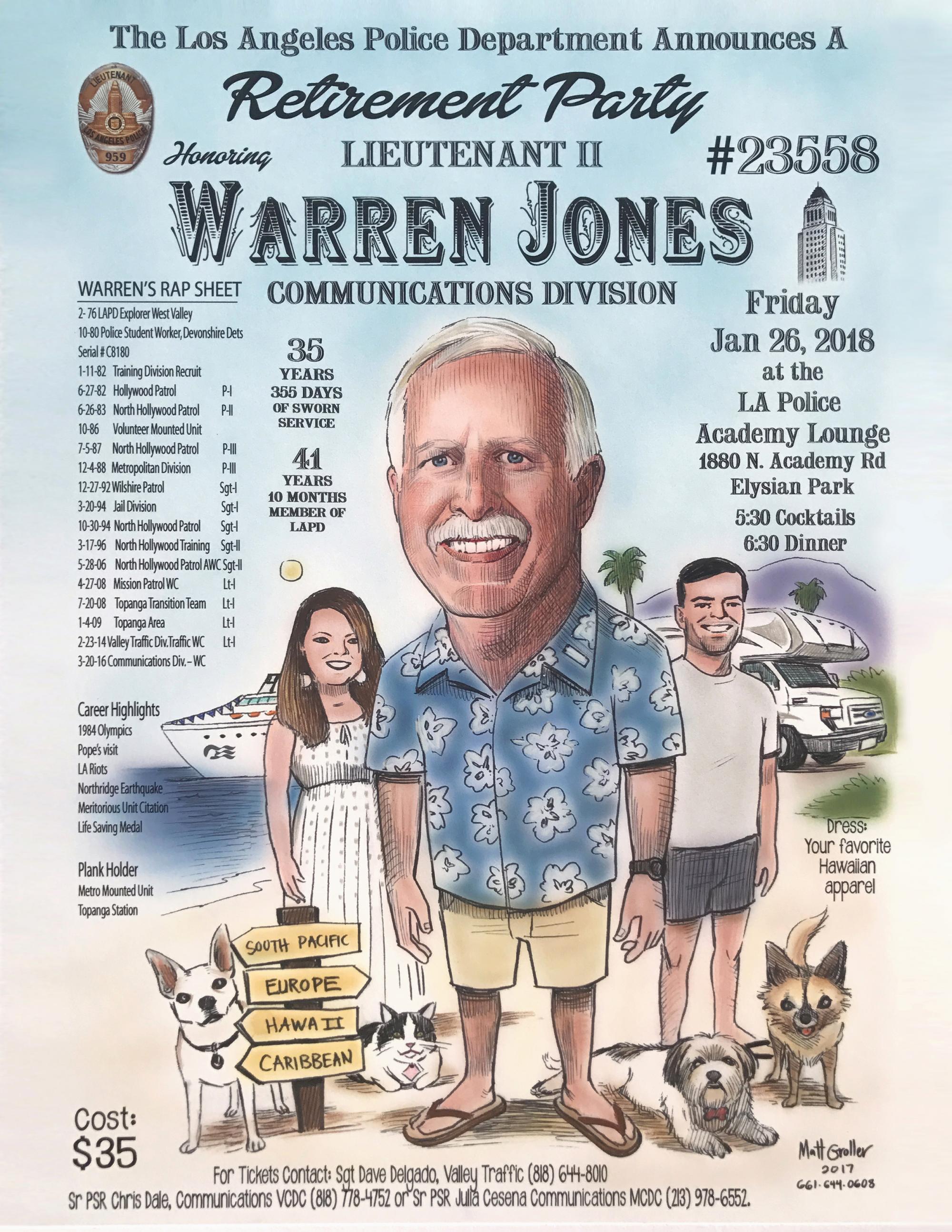 Warren Jones Retirement | LAPPL - Los Angeles Police