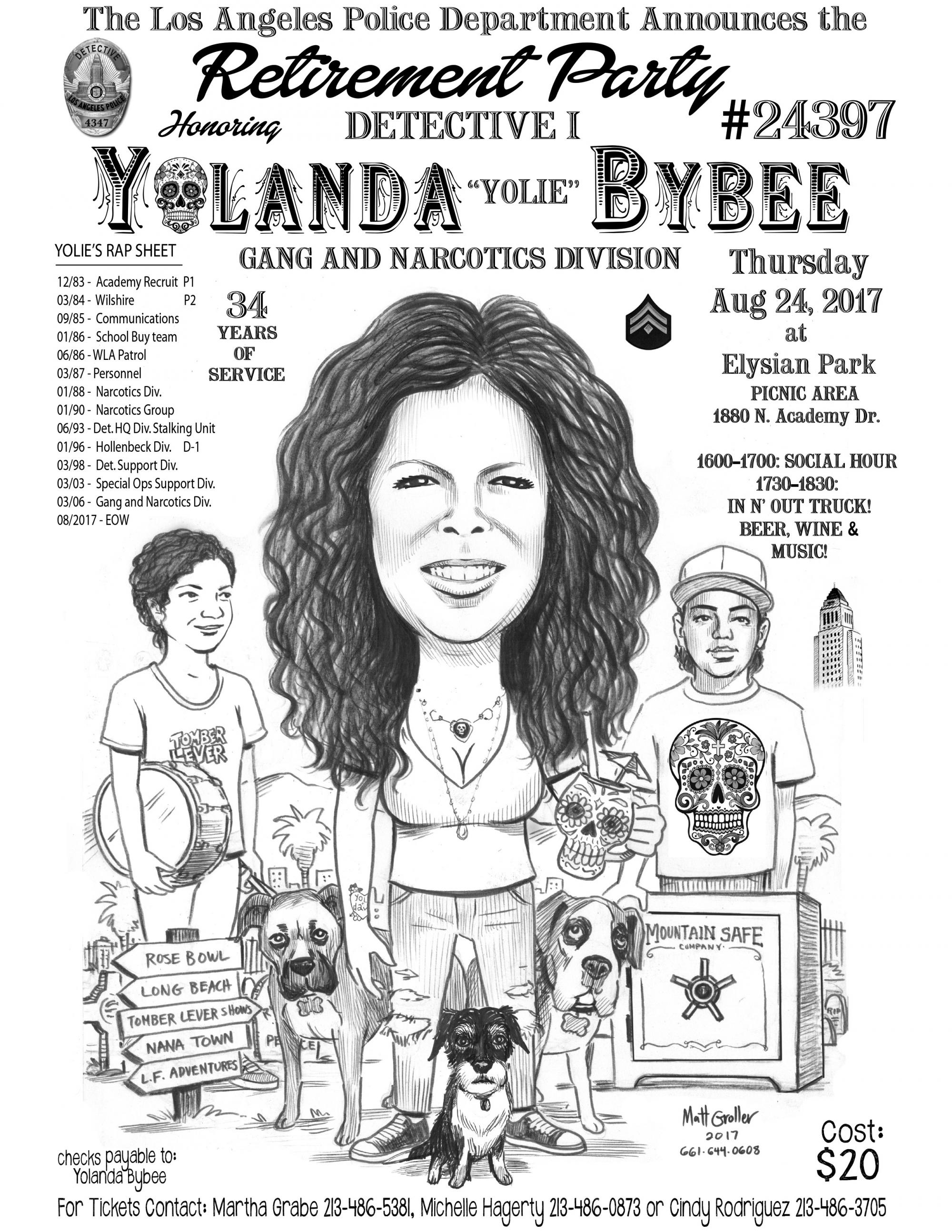Yolanda Bybee Retirement Party | LAPPL - Los Angeles Police